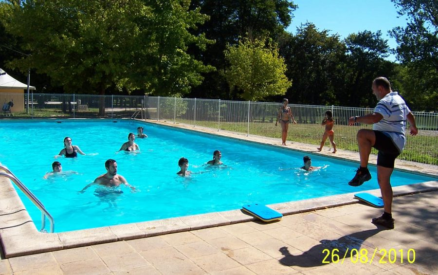 piscine aquagym camping lac de Neguenou